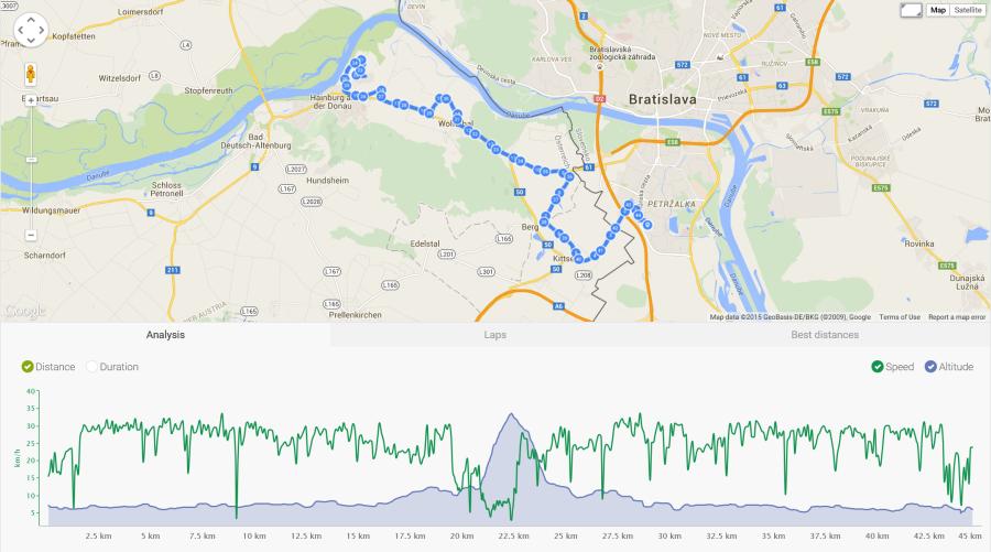 Z Braunsbergu som šiel rovnakou cestou ako tam. Prečo ten kopec vyzerá inak tam a inak späť mi je záhadou.